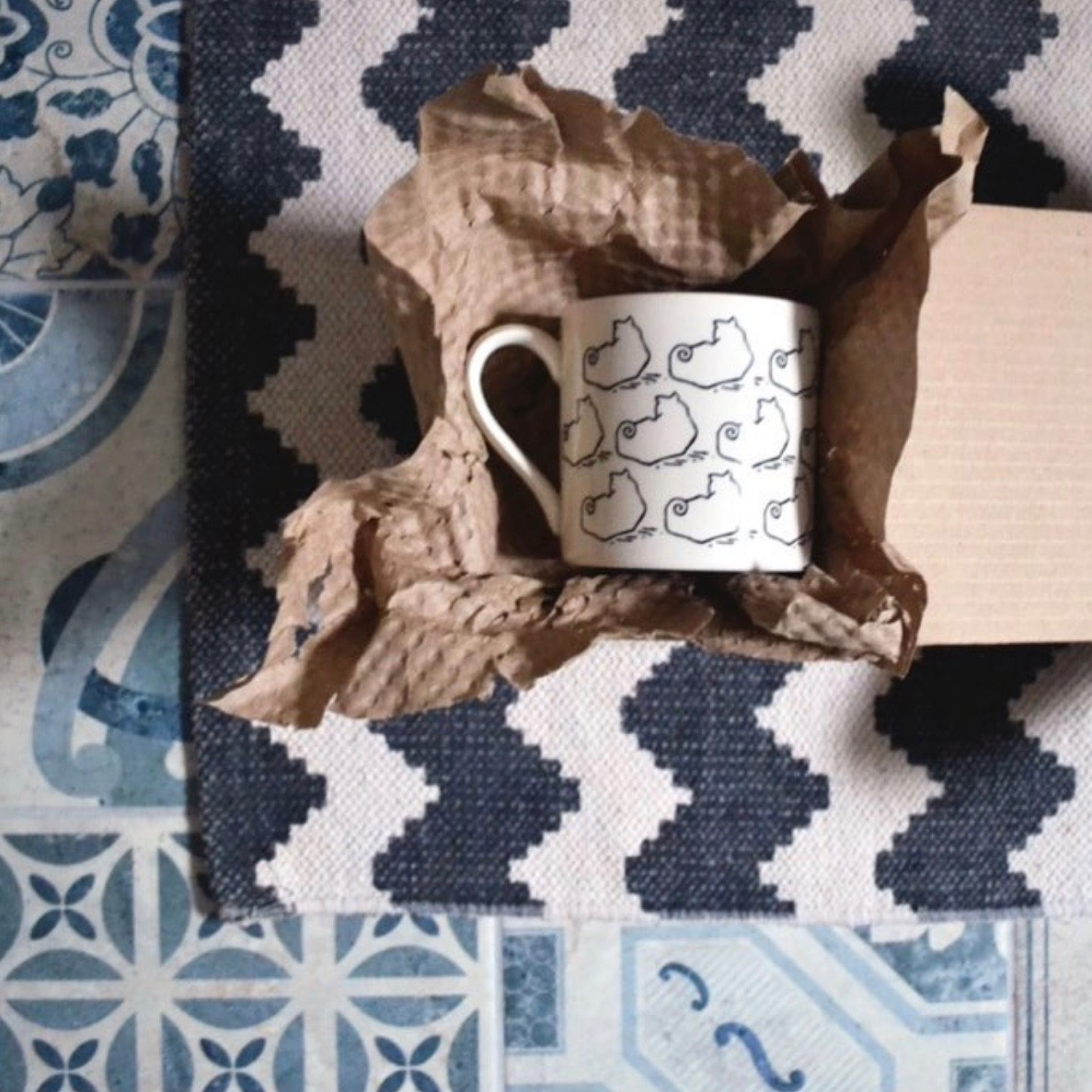 All Freda Smith homewares are manufactured and distributed within the UK which means you're reducing your carbon footprint (and making our day!) when you buy from us!  Buy the cat design earthenware mug (£15.95) as pictured above here  >