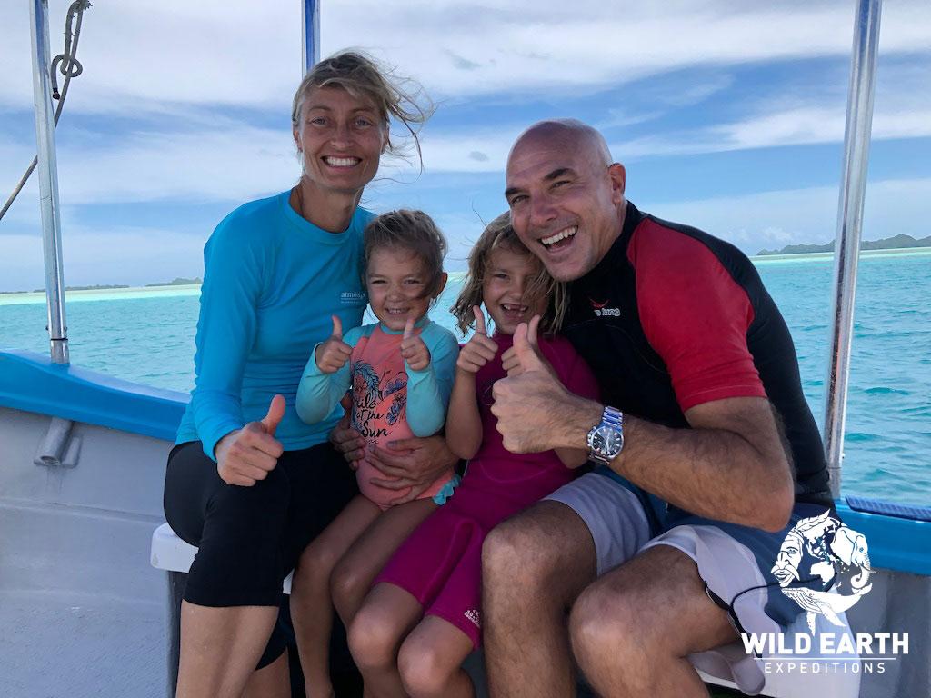 Natalia, Coco, Estelle & Thomas - Palau - Wild Earth Expeditions