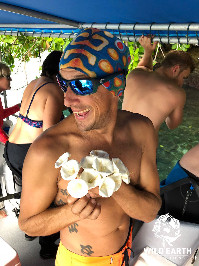 Eric, the Cruise Director looking pretty - Palau Siren - Wild Earth Expeditions
