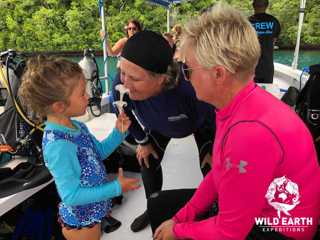 'Smelling the flowers' - Palau - Wild Earth Expeditions