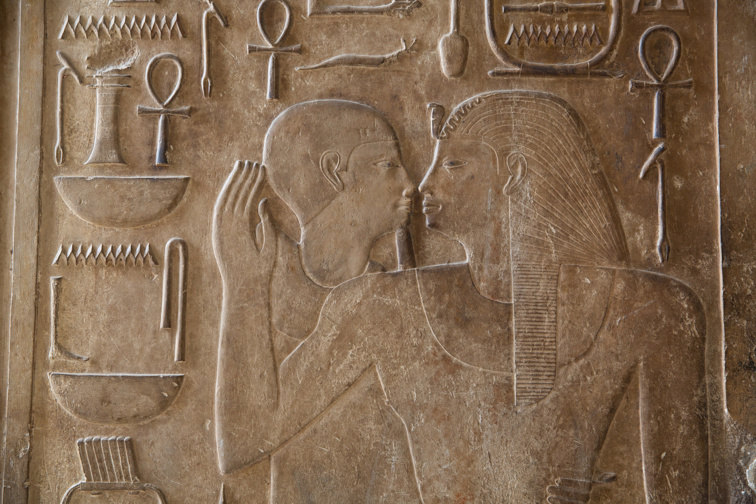 'Kissing' relief in Temple - Egypt - Wild Earth Expeditions