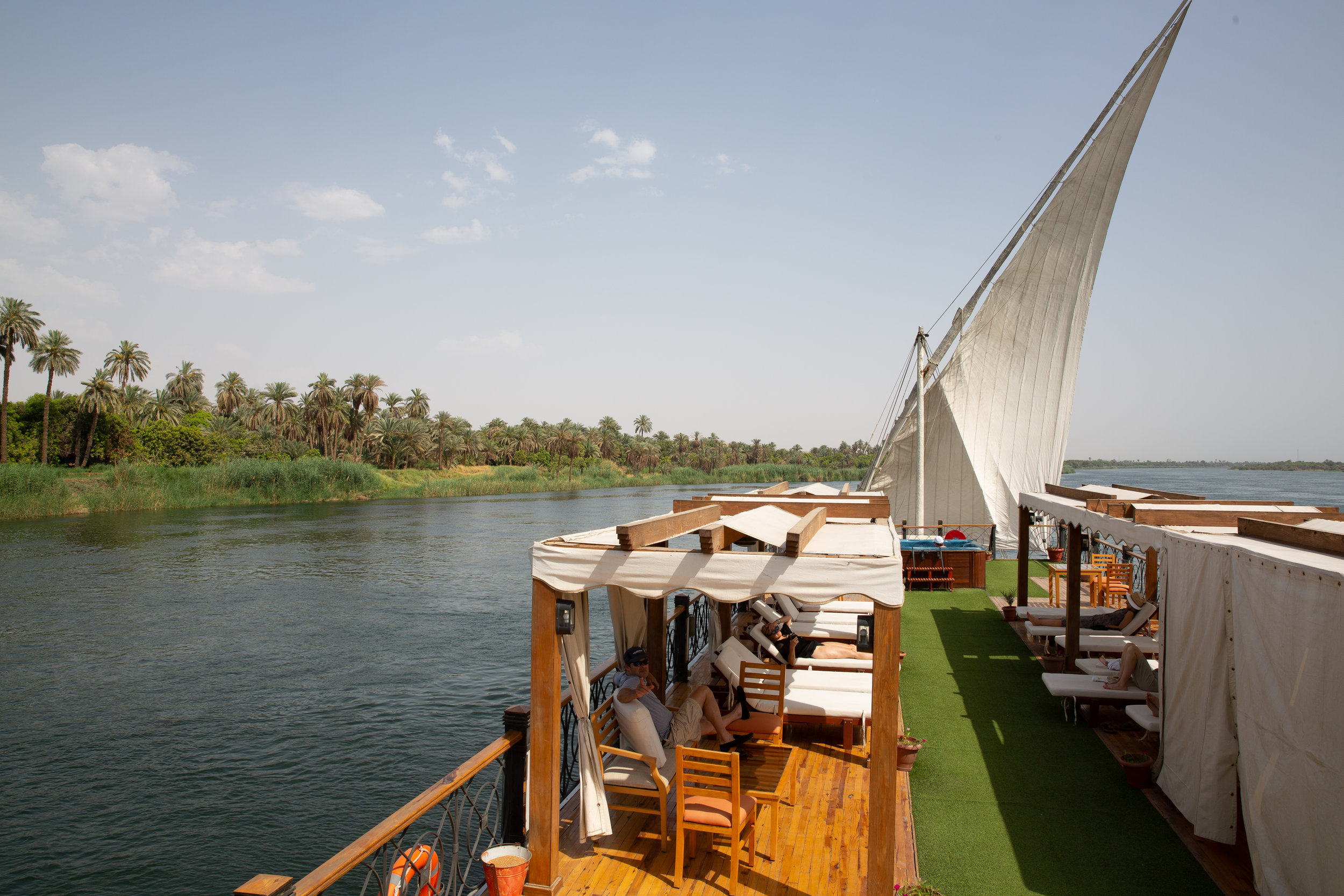 Sailing on our Dahabiya, Nile - Egypt - Wild Earth Expeditions