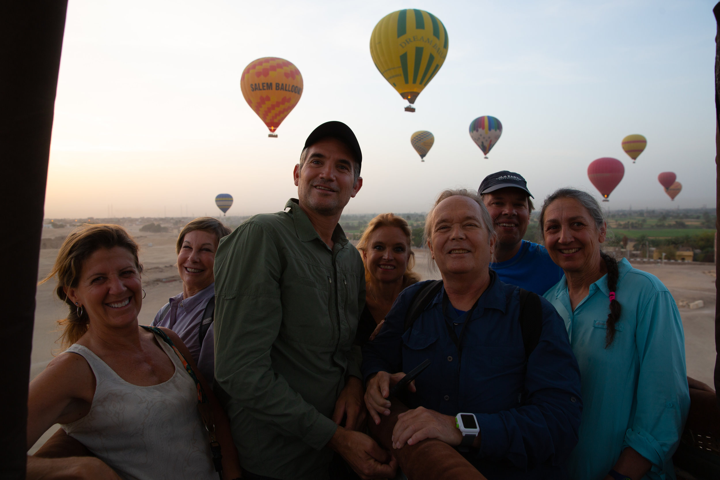 Hot Air Balloon over Luxor - Egypt - Wild Earth Expeditions