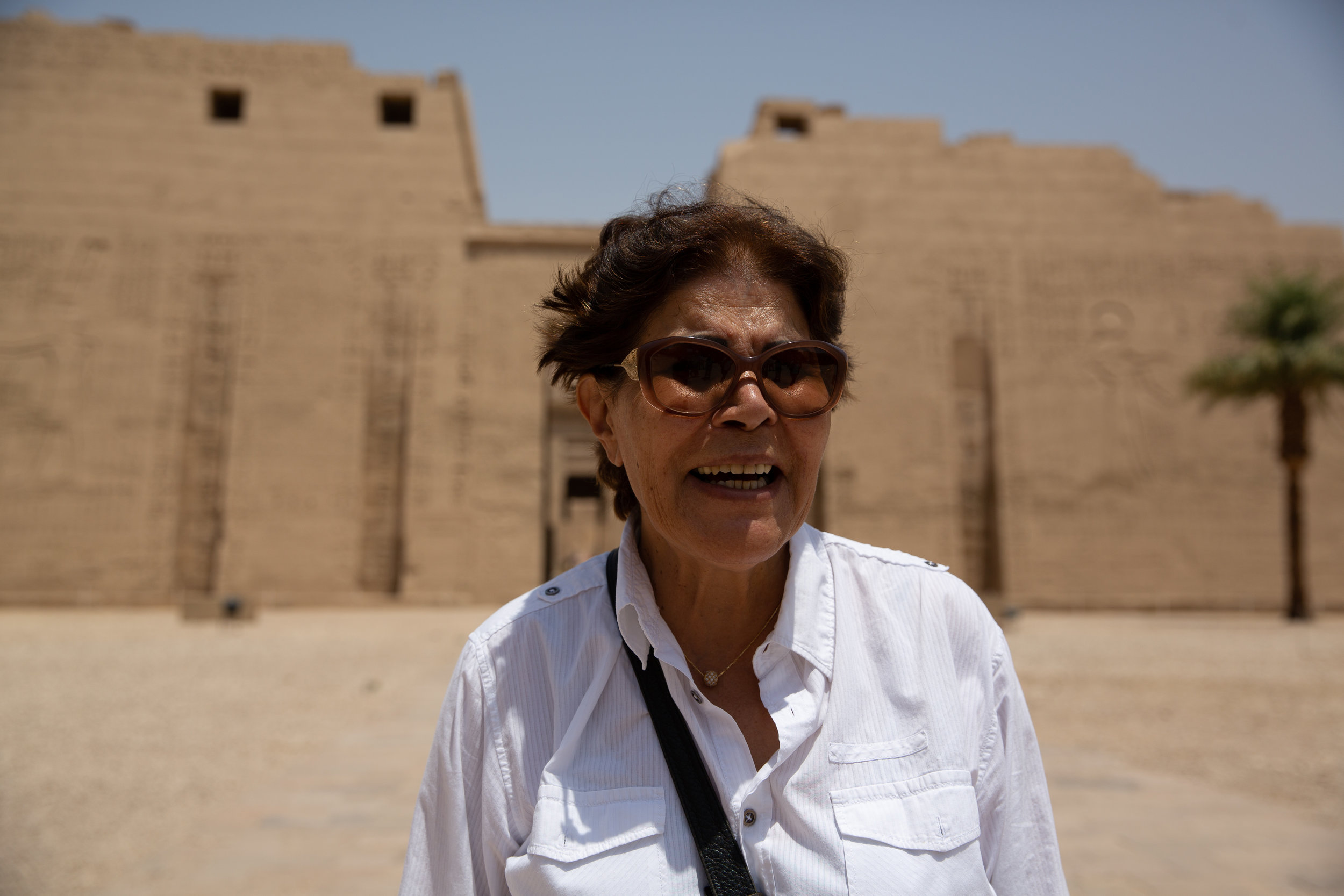 Our Egyptian expert, Toni, Medinet Habu, Luxor - Egypt - Wild Earth Expeditions