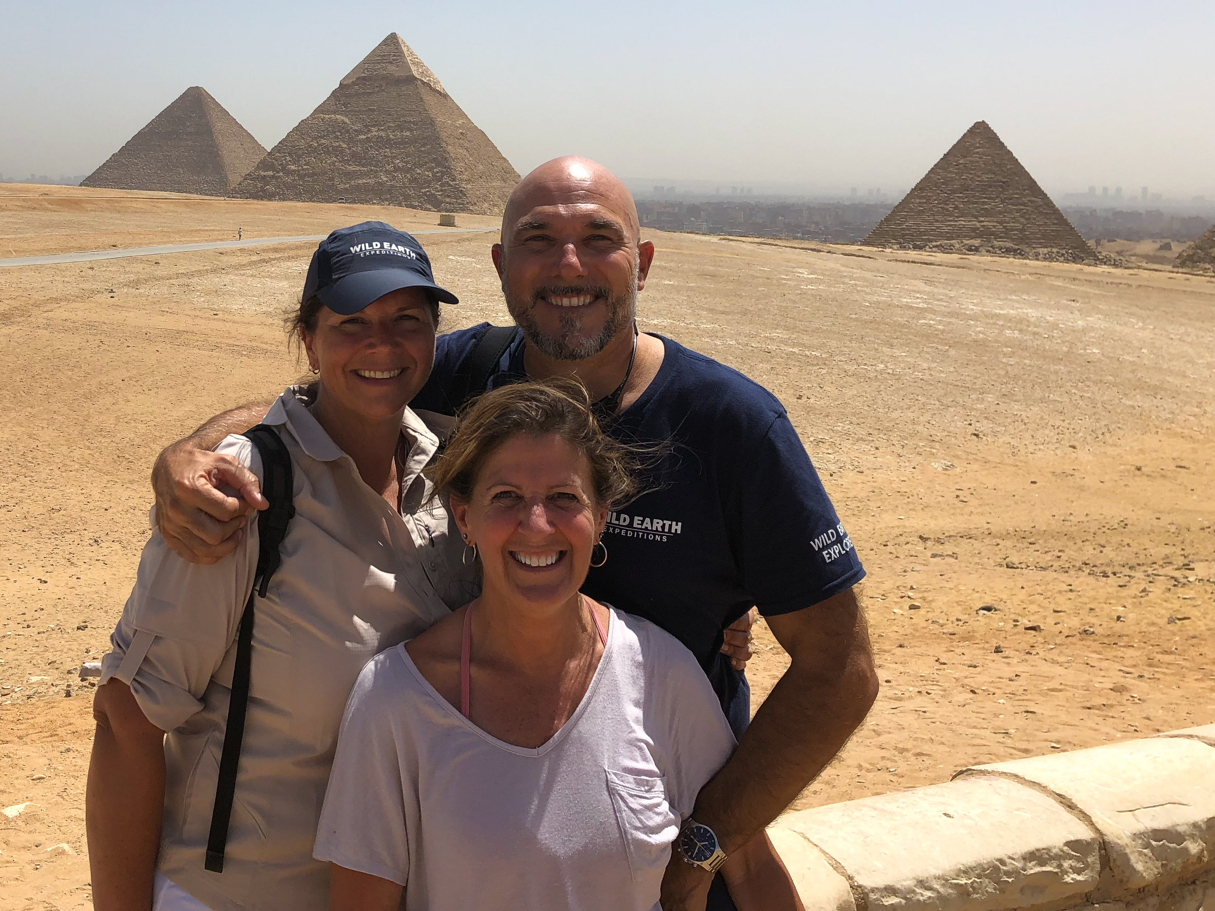 Wild Earth Team at the Pyramids, Cairo - Egypt - Wild Earth Expeditions