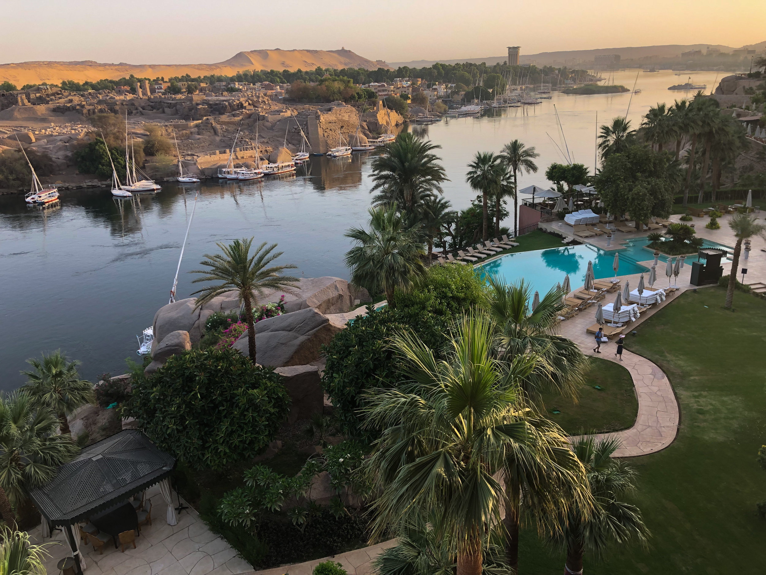 View from The Old Cataract, Aswan - Egypt - Wild Earth Expeditions