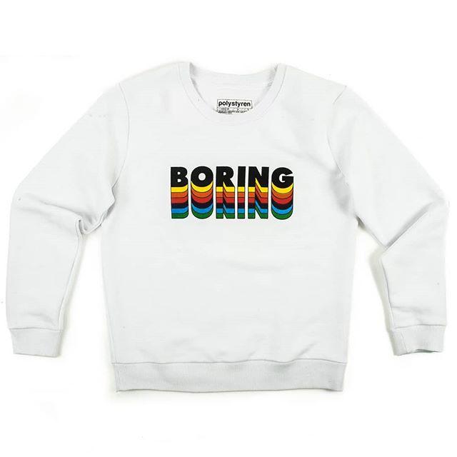 #polystyren #ss19 #sweatshirt #boring #white ##streetwear