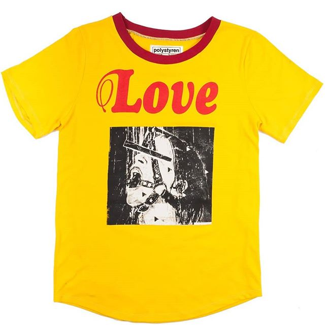 love  #polystyren #ss19 #love #tshirt #screenprinting #yellow #red #bondage #lickmylegs #paris #madeinmontreuil