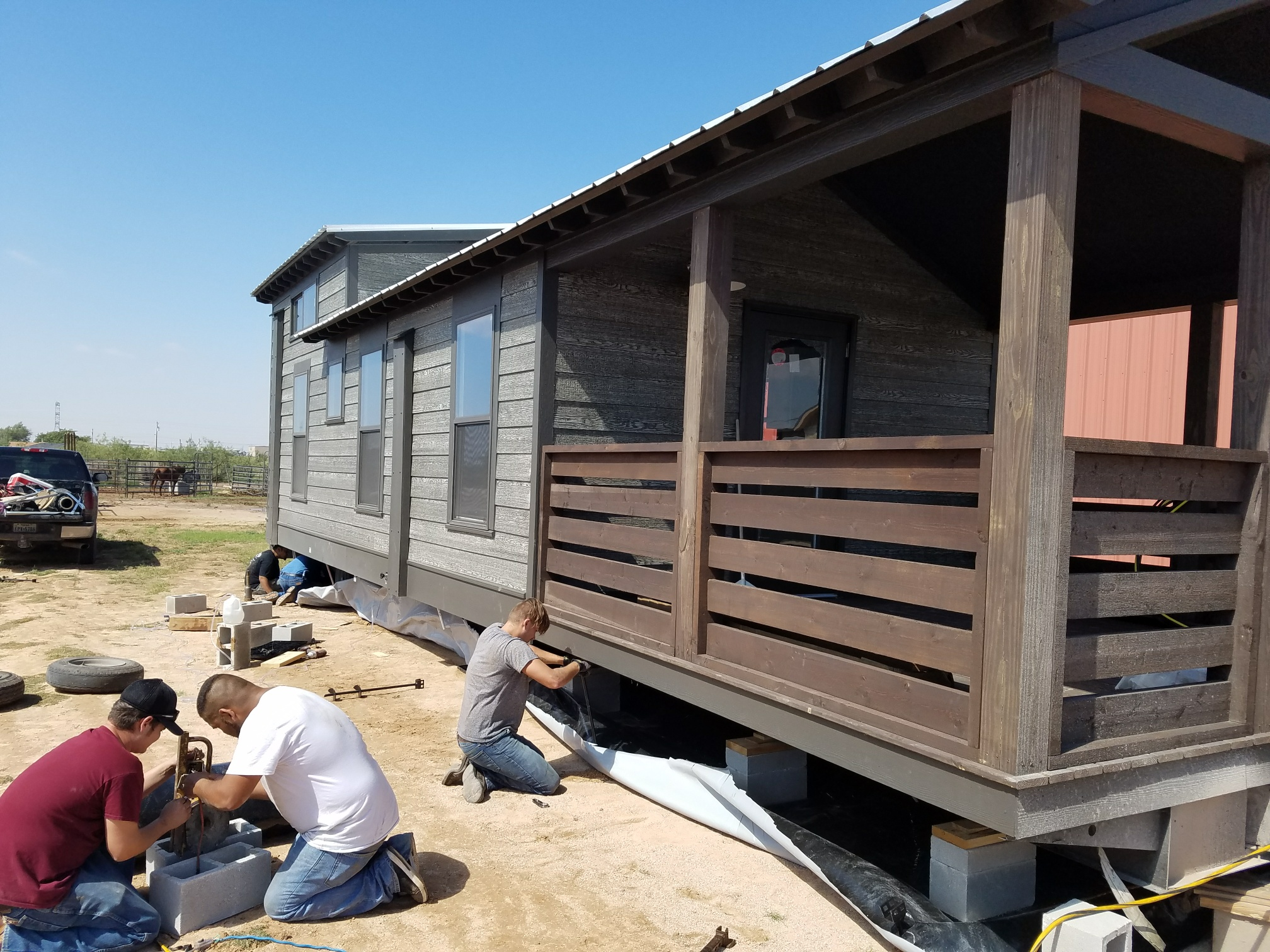 Installation of The Berry for a customer in Midland, Texas