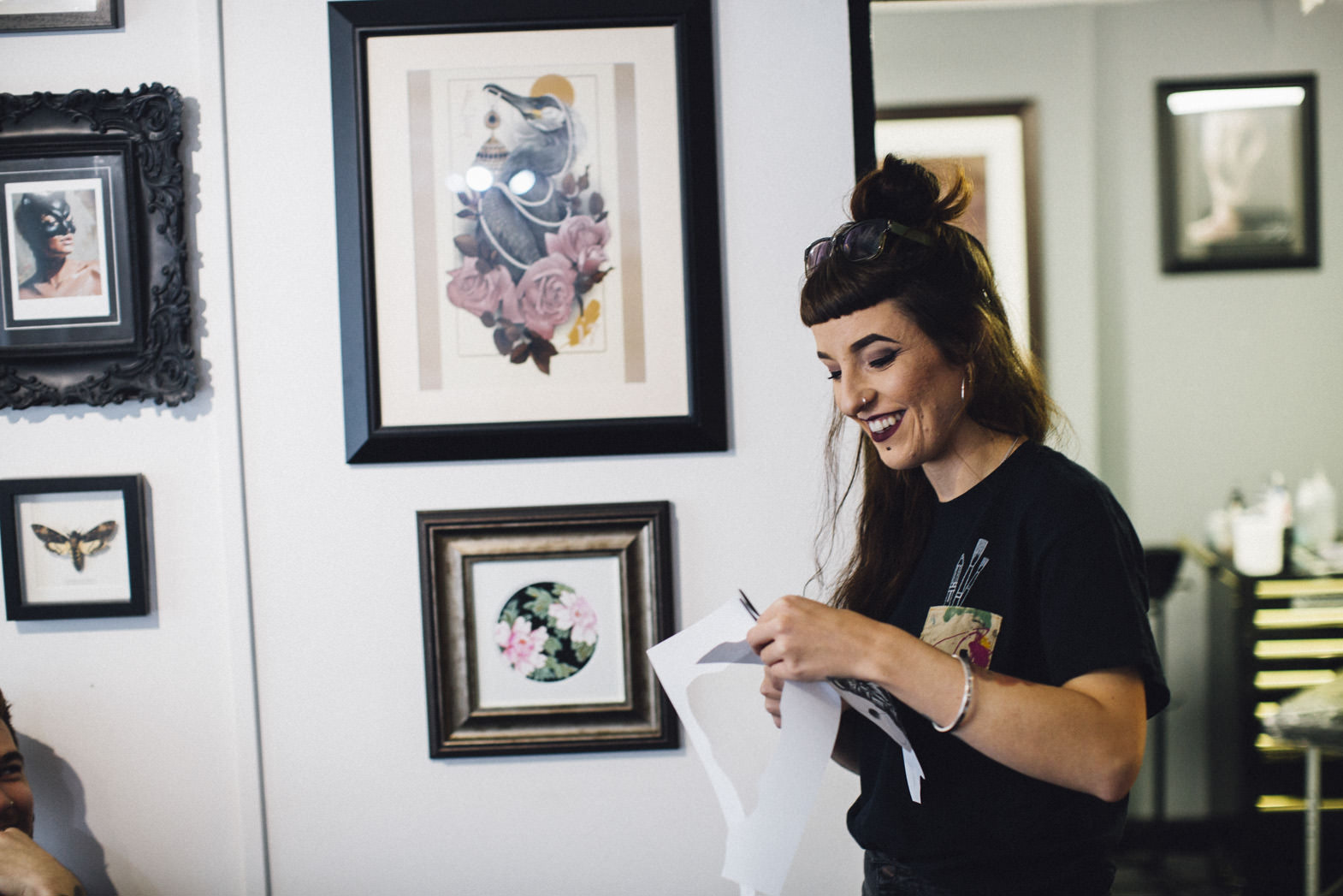 Remy -   Tattoo Artist - fuelled by copious amounts of Tea & Rocket Leaves. Always smiling & always the last to leave. She's dedicated & has an exceptional eye for detail!