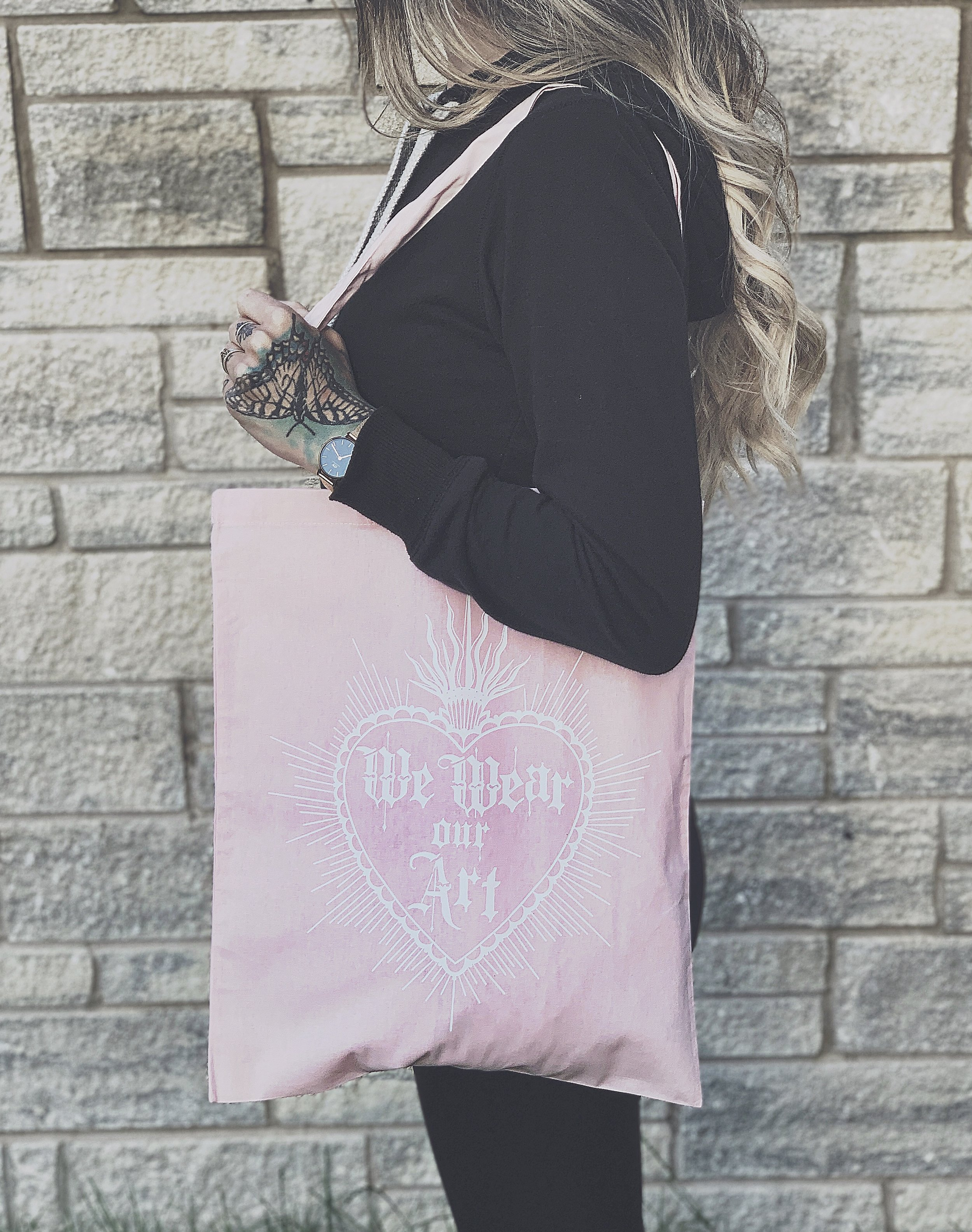 We Wear Our Art - Tote Bag  (Pink)  £10.00