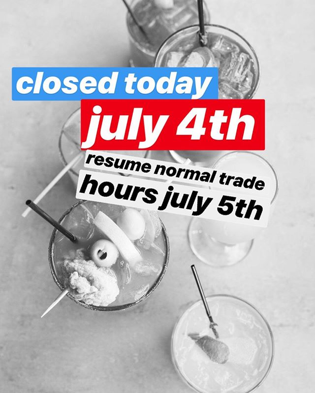 Noosa is closed today for our hard working employees to spend time with their friends and families! We will resume regular trade hours tomorrow!!
