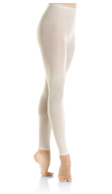 Pale pink footless tights