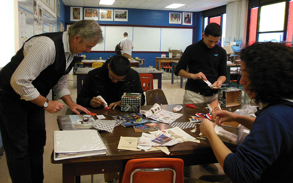 Teaching art in a Memphis high school.