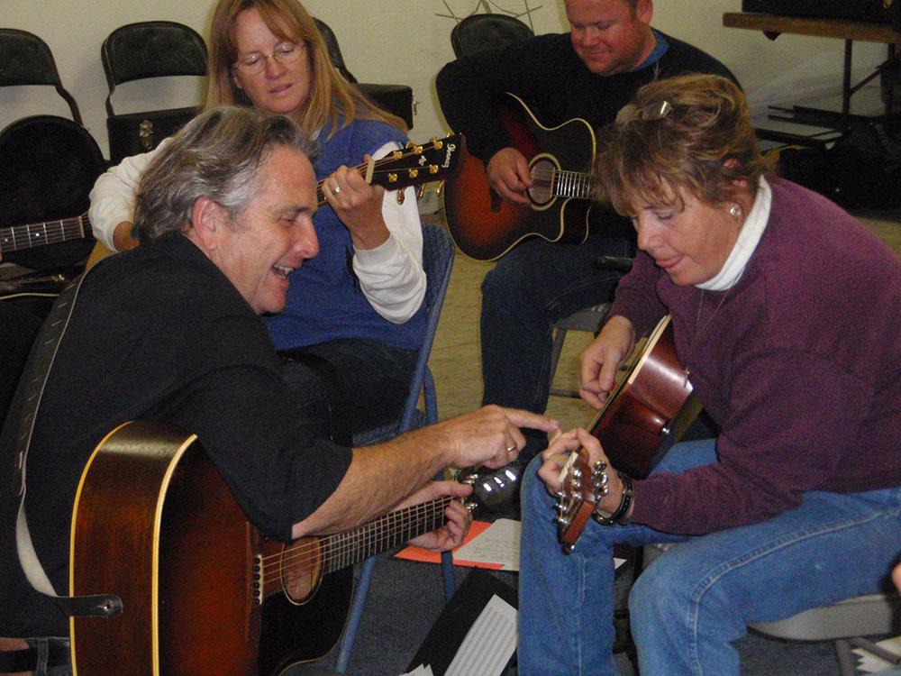 Guitar workshop in Wyoming.