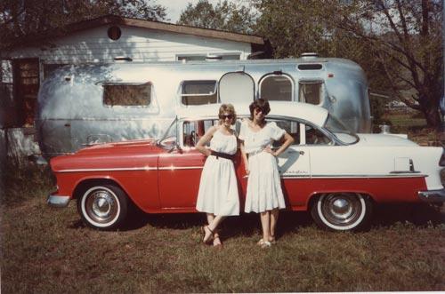 Marilyn with sister Carolyn in Boulder, Colorado