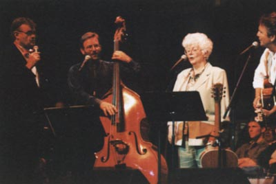 Garrison Keillor, brother Dale Bohren, mother Norinne Collea, SB on Prairie Home Companion in Laramie Wyoming