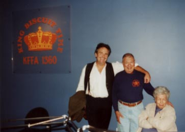 SB with Sonny Payne of the King Biscuit time Radio Show, Helena, AR