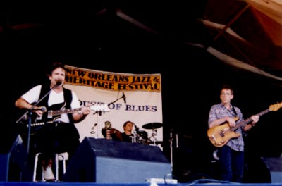 SB with Andre & Reggie Scanlan at New Orleans Jazz & Heritage Festival