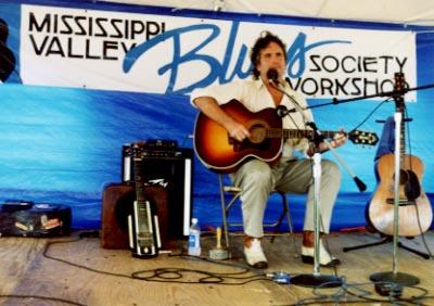 SB at MISSISSIPPI VALLEY BLUES FESTIVAL
