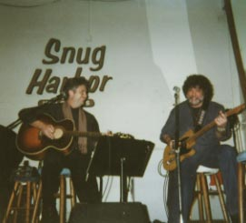 SB and Dave Malone at Spencer's annual Snug Harbor Christmas Show.