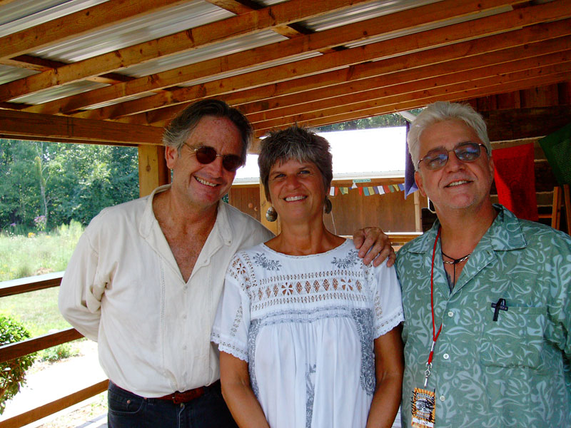 Spencer and Marilyn with Jim Shearburn at Fur Peace Ranch.