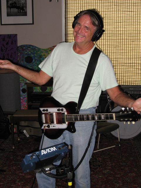 Spencer in the studio.