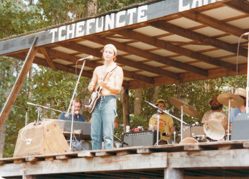 Spencer Bohren and band Tchefuncte campground in the 1970s.