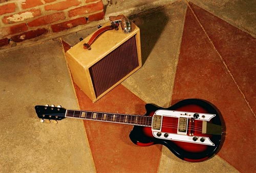Slide guitar photographed for the German release of Down the Dirt Road Blues.