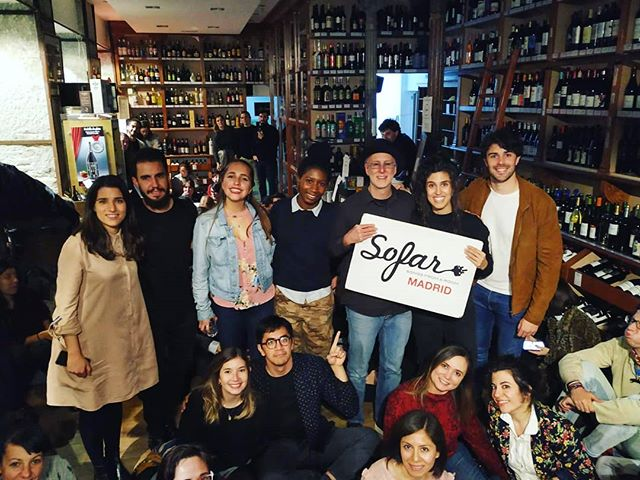 Gracias @sofarsoundsmad for welcoming me into your city! Community is at the core of Sofar, and I'm going to make it my mission this year to visit as many Sofar cities as possible! Which city should I go to next? 🛩️🛩️🛩️ Swipe for a selfie 👉