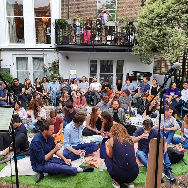 "Just hosted a Sofar in my garden where I am surrounded by neighbours. Someone always complains.  At 10pm a loud voice started shouting something. Then we realised he was saying ""turn it up!"" Thanks to the @sofarlondon team for putting on a show even my cranky neighbours appreciated! 😉🎉"