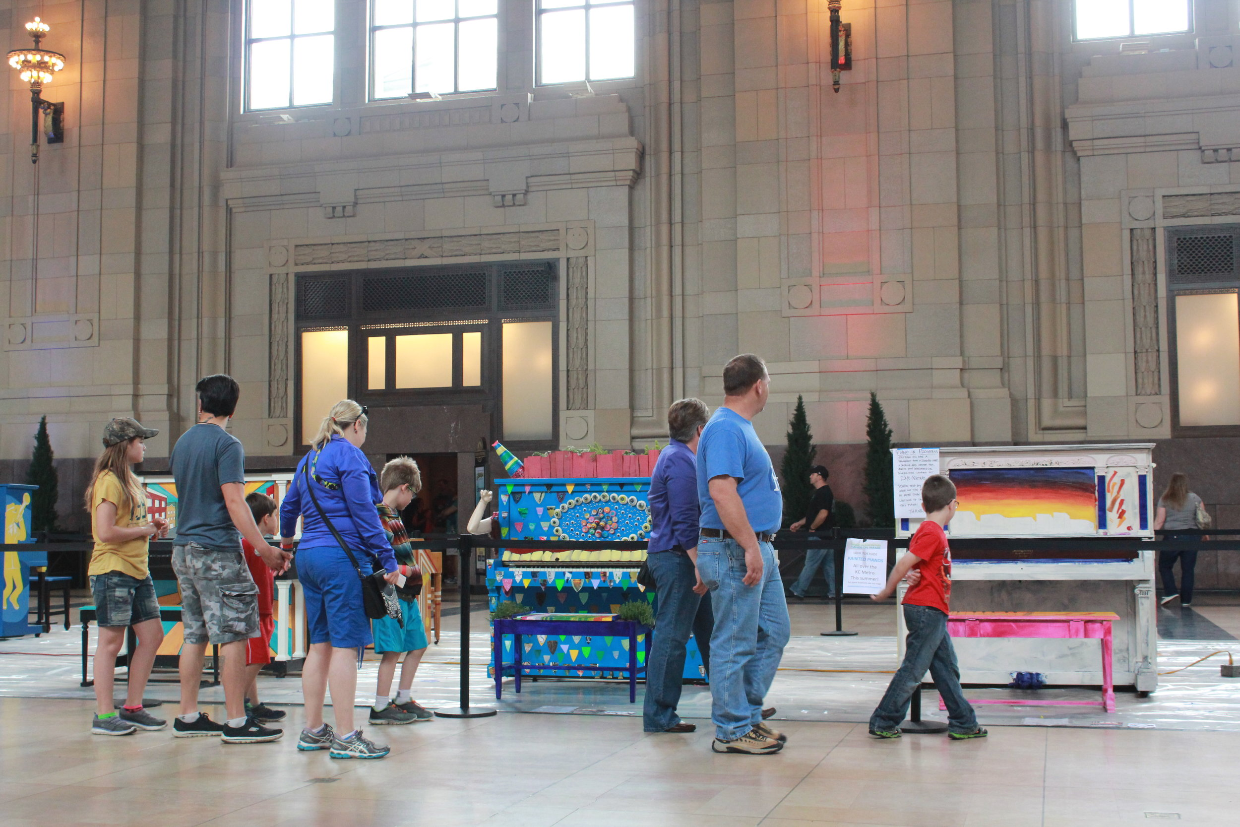 We often take visits to Kansas City's numerous museums, galleries, and artist studios. We're not only providing a place to create art, but a community of artists to be a part of.