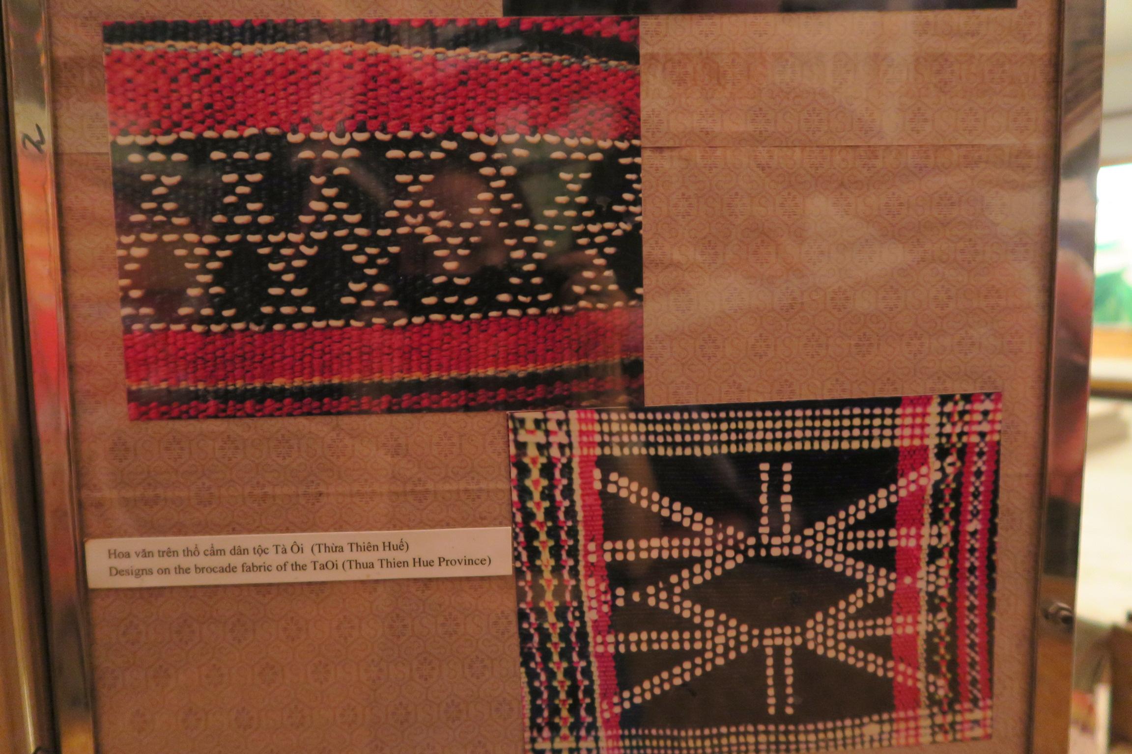 Brocade fabric details