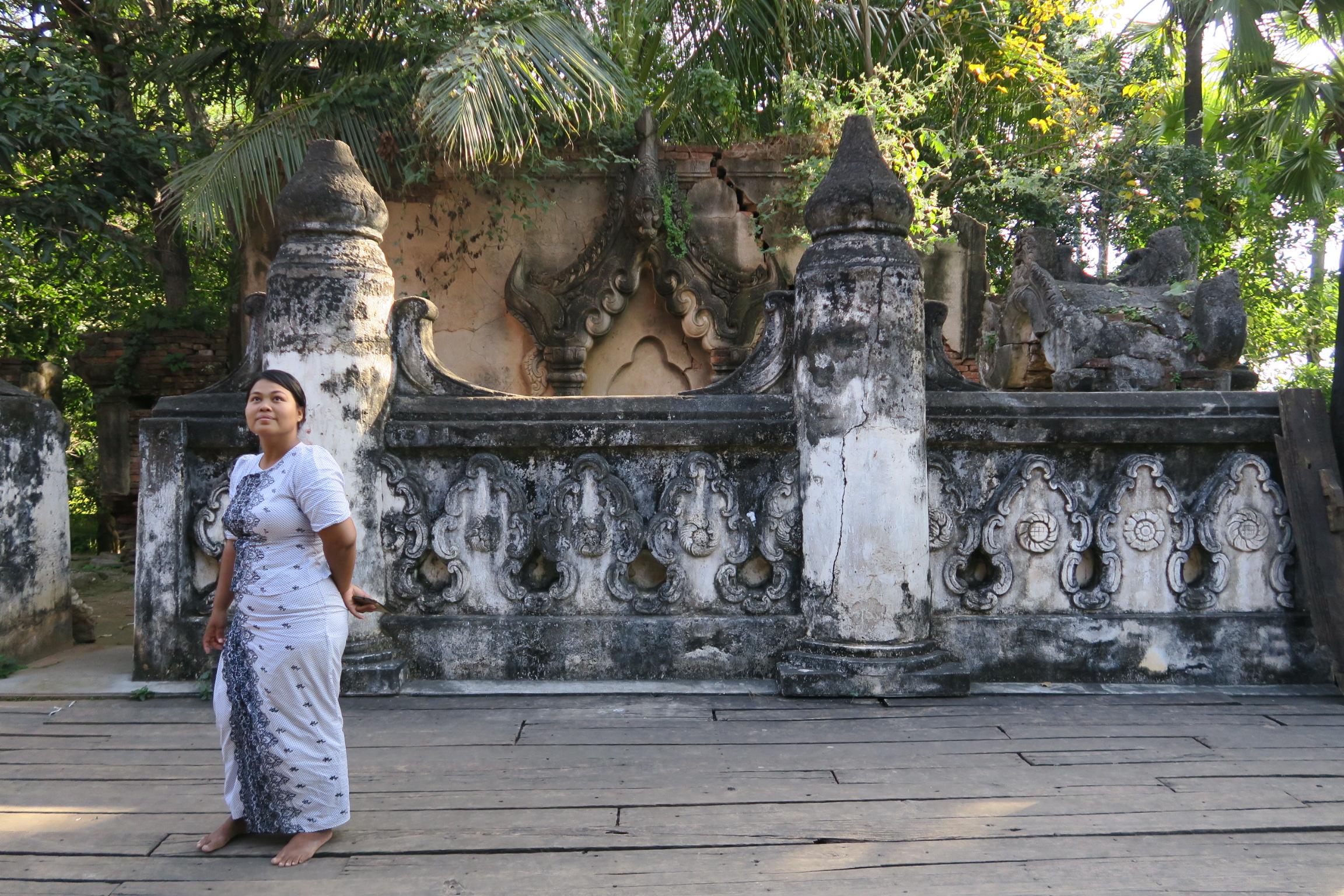 Mya at the Bagaya Monastery