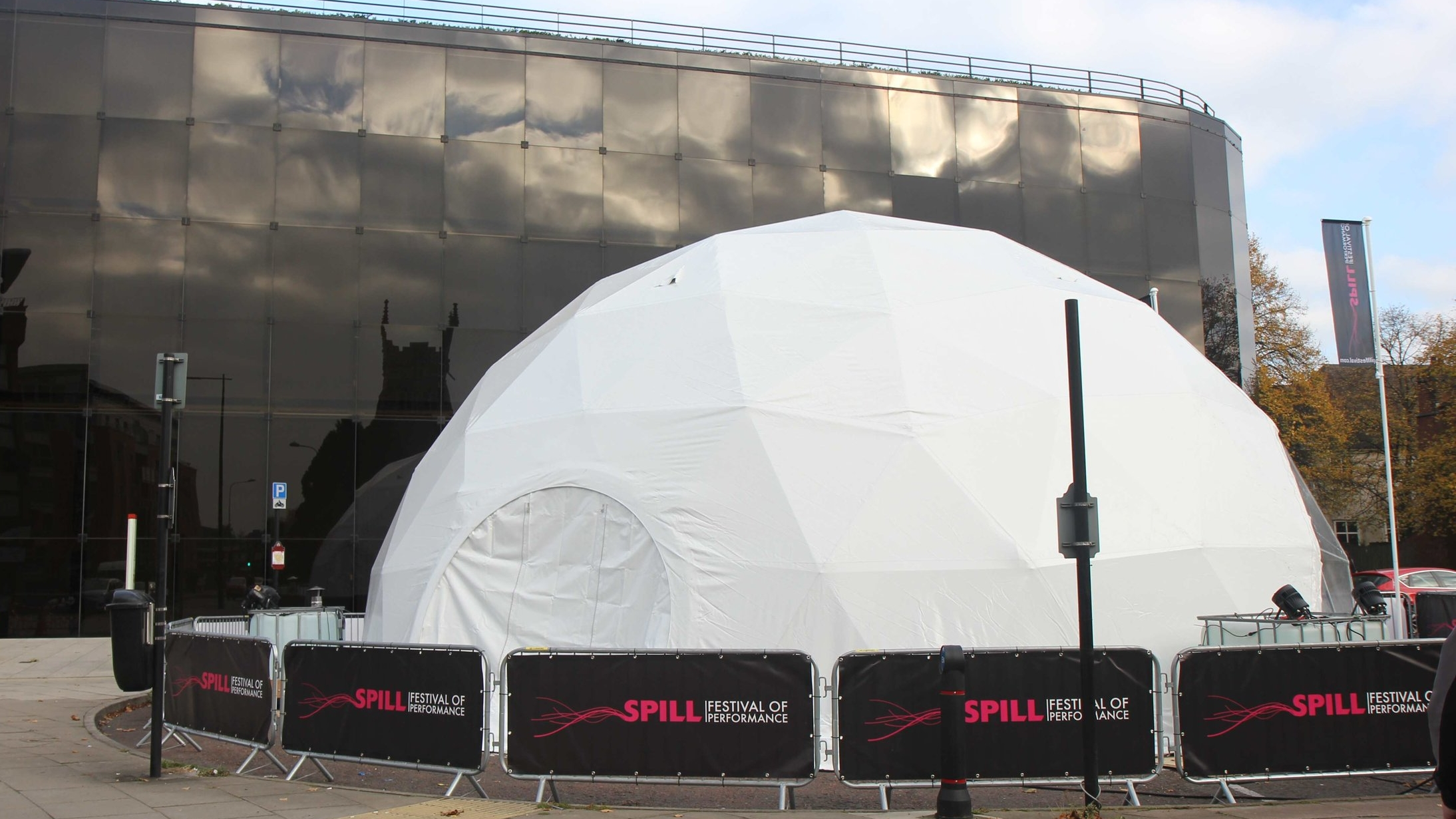 The SPILL Dome - temporary venue. SPILL 2016
