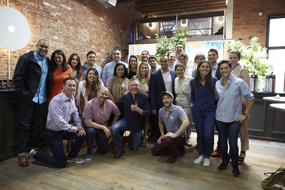 Members of the Chobani Food Incubator first cohort, posing for a group photo in Norwich