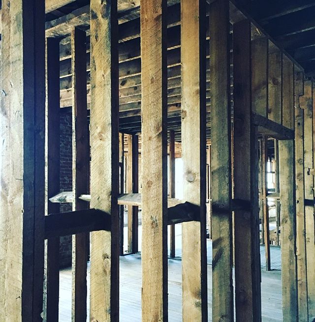 Old bones are the best kind! Interior of a 19th-century building ripe for restoration.