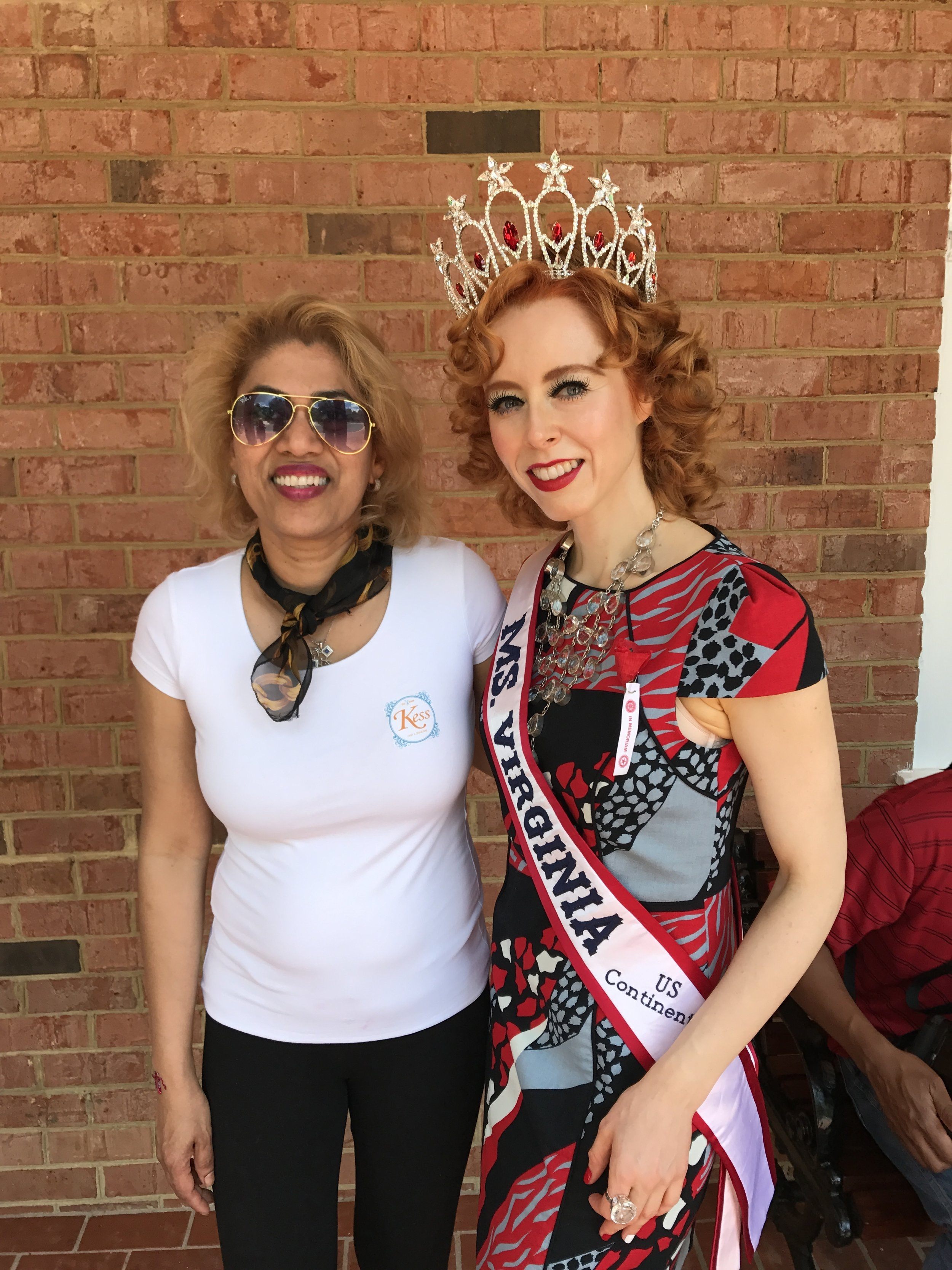Rovina and Ms Virginia US Continental, Julie Wilson