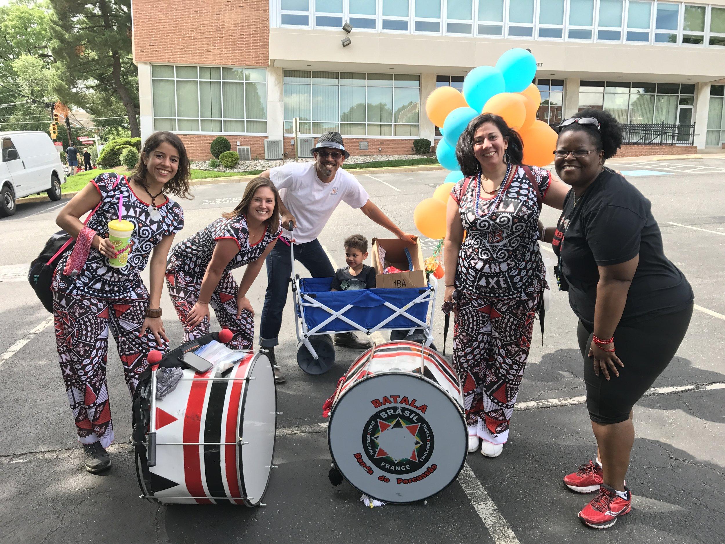 Royston with Batala Washington (winner of the best marching band)