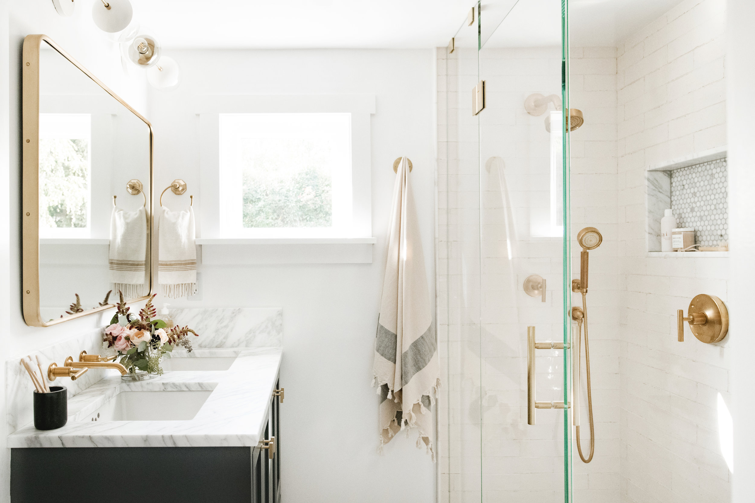Cohesively Curated Bathroom Design