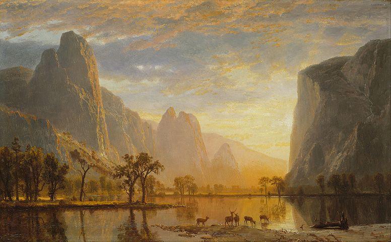 Bierstadt,  Valley of the Yosemite,  1864