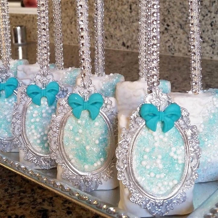 - Dipped Rice Krispies with Fondant Toppers