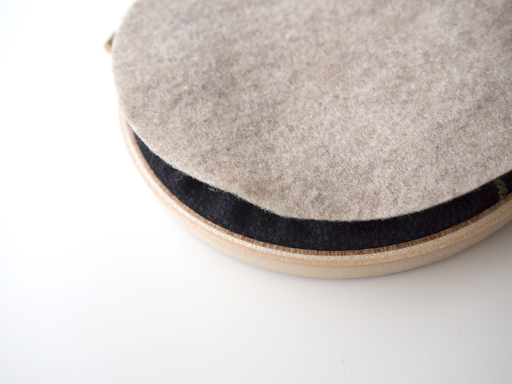 Make sure to place your felt with the tracing marks facing towards the hoop so they are not visible post stitching.