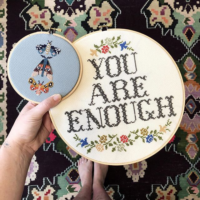 So excited about the upcoming auction from @knit.beyond.borders which will run from August 15-17th with the proceeds going towards the Coalition to Stop Violence Against Native Women @csvanw ❤️ I am donating a cross stitch kit of YOUR CHOOSING! . . There are so many great contributions being made, I hope you'll check it out and help support @csvanw & visit @knit.beyond.borders to get all the auction details!