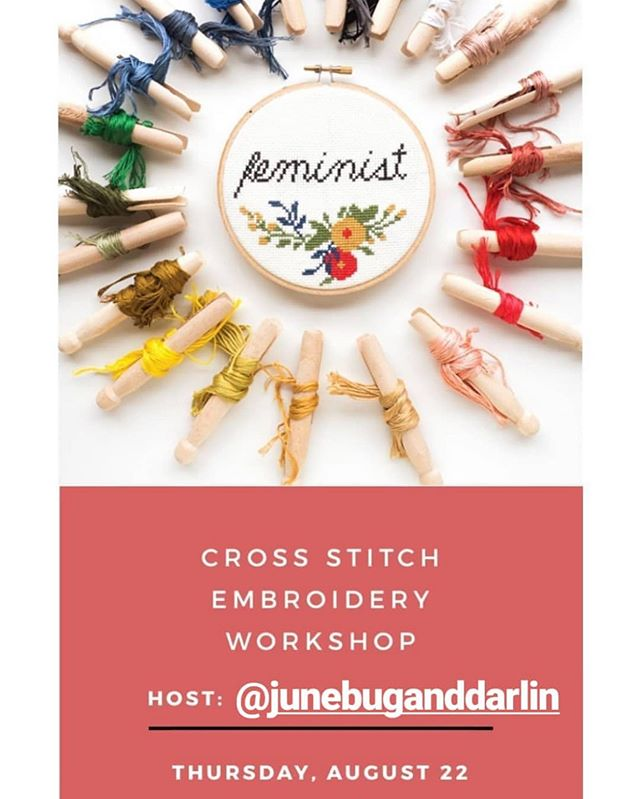 Learn to stitch with me on August 22nd at @assemblypdx  It's a great class for beginners! All supplies included.