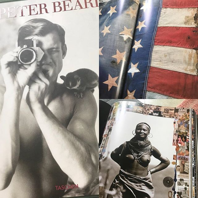 """Sunday morning reading"""" Peter Beard"""" a great book and a work of art in itself @momentum_fine_art #fineartphotography #fineartphotobook"""