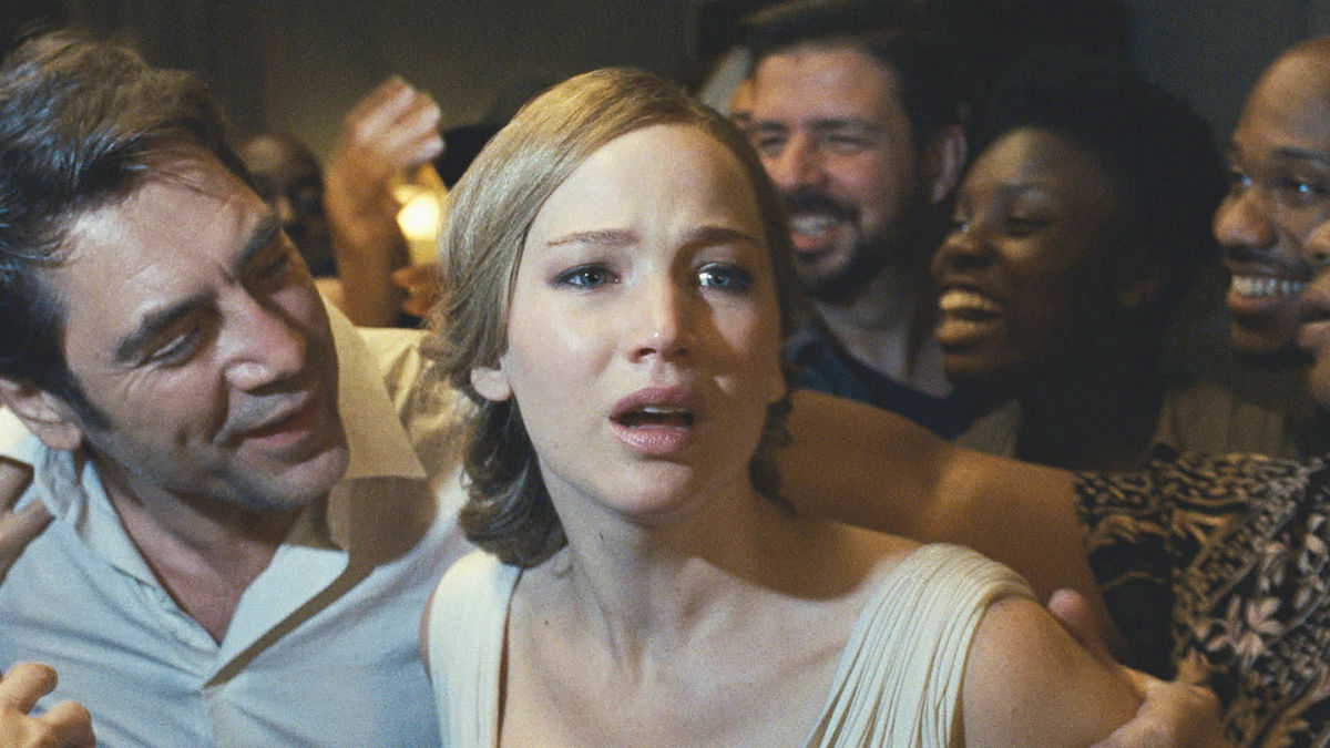 """Jennifer Lawrence and Javier Bardem star as the nameless main characters in Darren Aronofsky's film """"mother!"""" Internet Photo"""