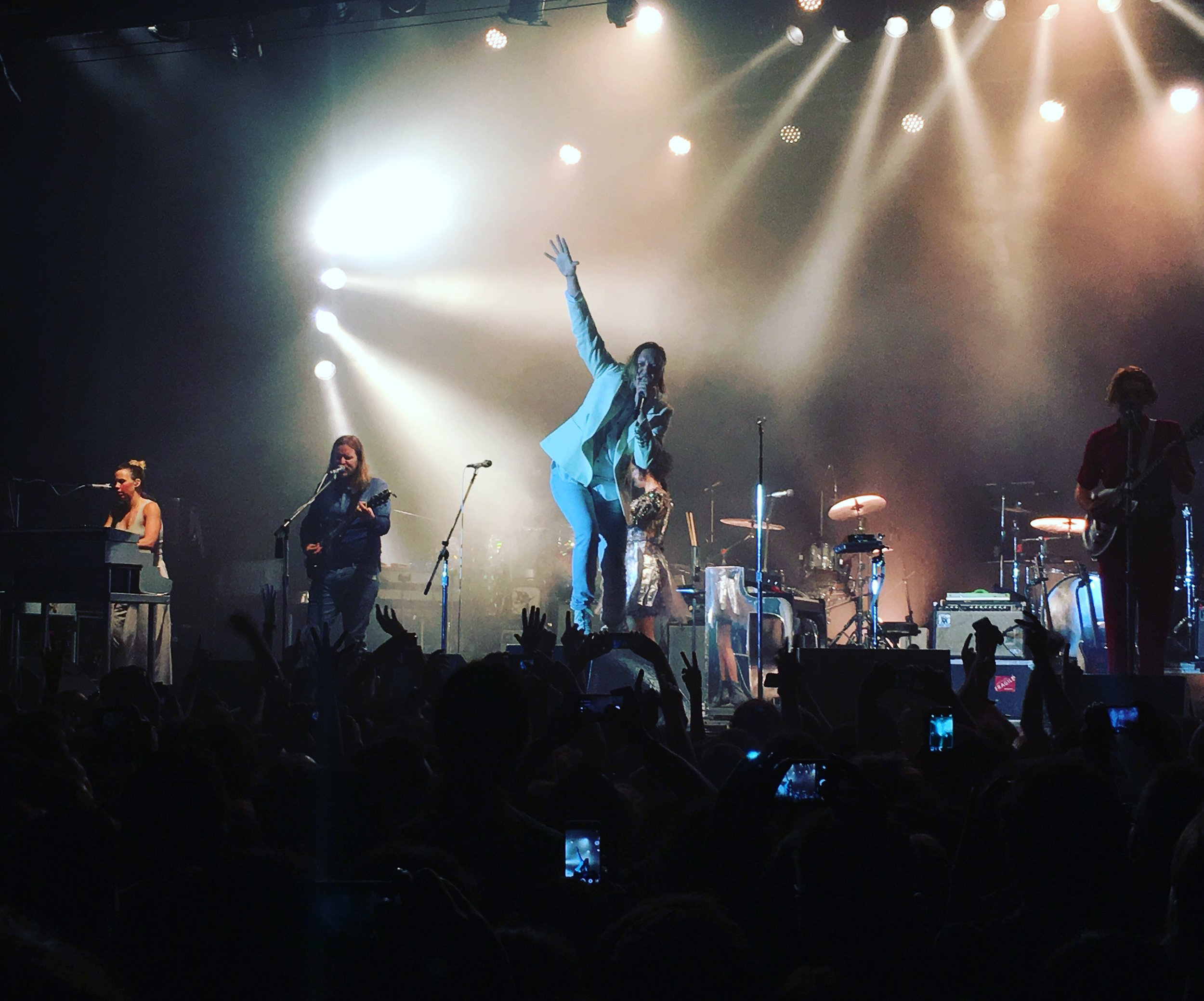 Arcade Fire performing live.  Internet photo