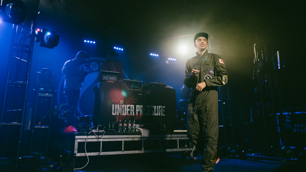 Maryland rapper Logic performs on stage for his Under Pressure Tour.  Internet Photo