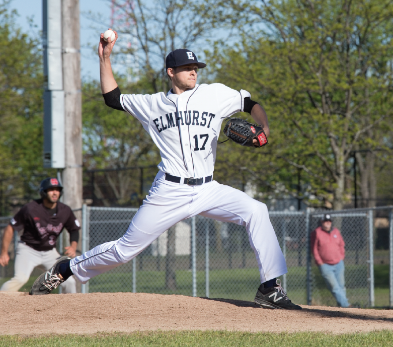 Right-hander Alex Kielion throws a pitch against North Central at Butterfield Park last season.